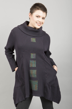 Thermal Pocket Tunic Midnight Patched-Blue Fish Clothing