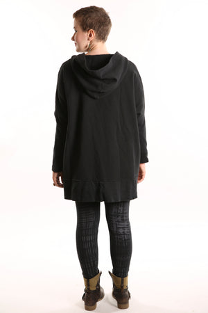 5261 New Rib Zipper Hoodie Black UNP