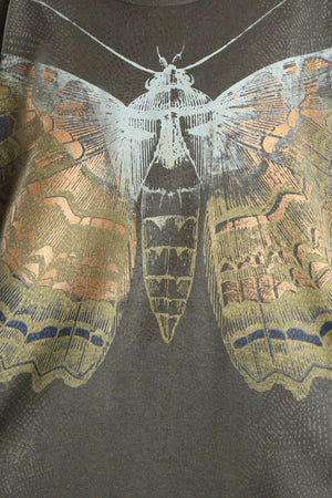 1230 Hemp Organic Cotton Top Dark Olive Golden Charaxes