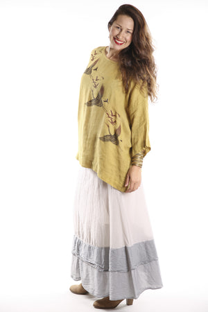 Oversized Square Linen Top Goldenrod L594-P