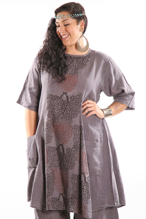 7212 Beautiful Days Linen Dress-Dove -P