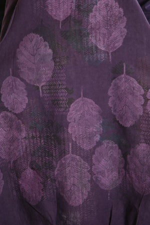 7205 Studio Dress Royal Purple -Autumn Leaves-P