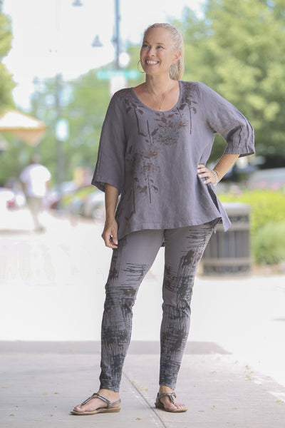 2183 Relaxed Linen Top-Dove-P