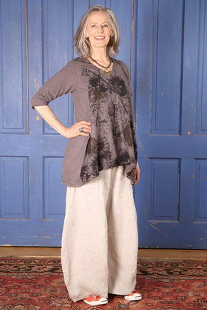 1248 Mantra Hi/Lo Top-Dove-P
