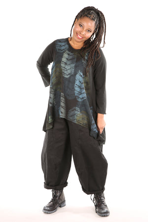3290  Four Square Pant -Black