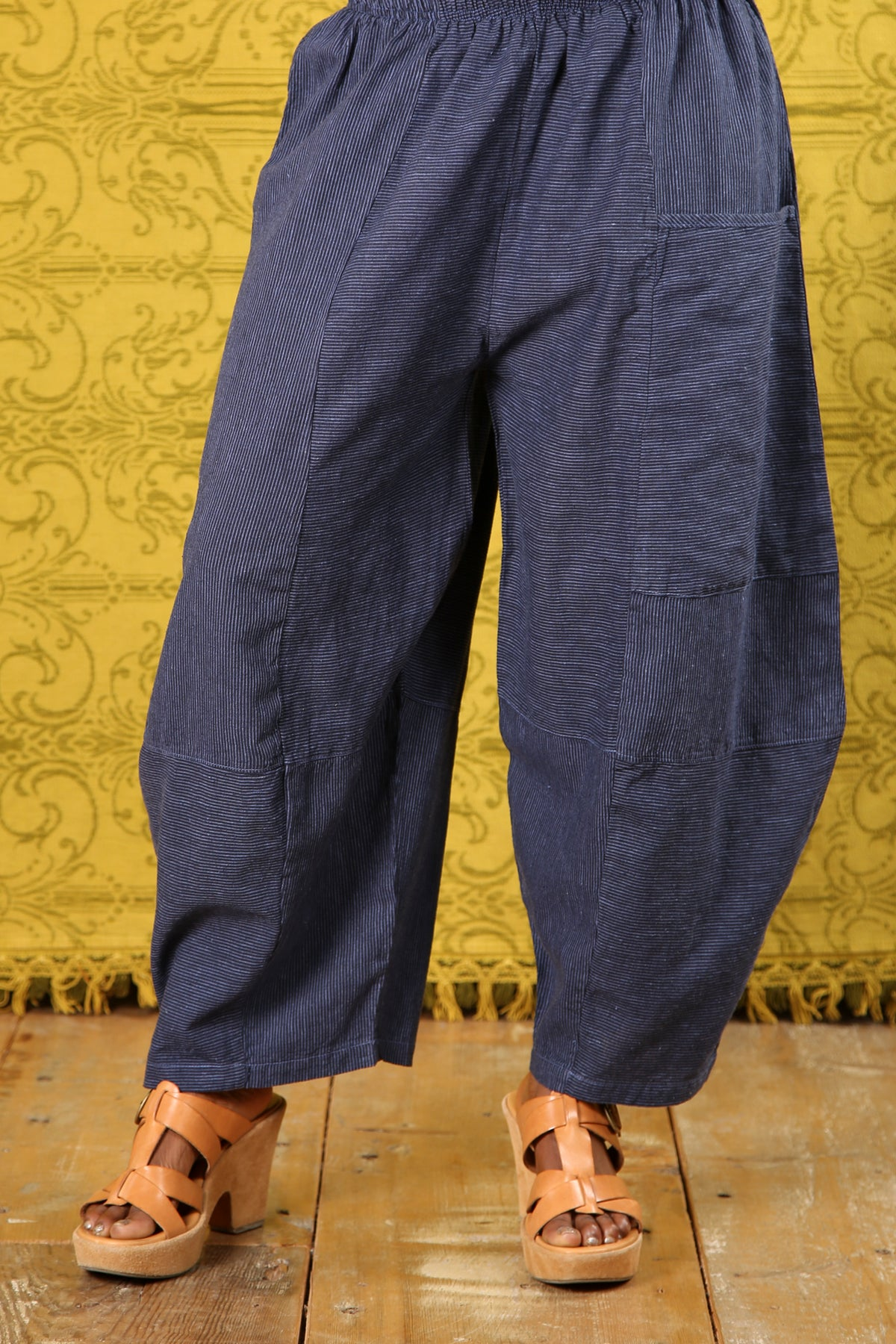 3289 Striped Four Square Pant Elemental Blue/Indigo Stripe - Unprinted