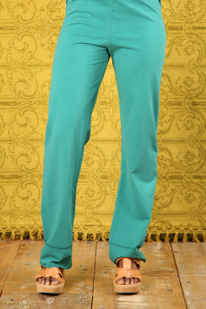 3176 Comfy Cotton-Lycra Slim Pant-Cadmium-U-TO OVERDYE