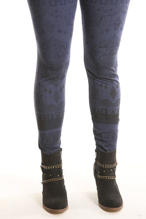 3280 Legging Heavy C/L Mood Indigo-persian dreams print