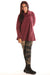 1246 Sherpa L/S Cowl Sweatshirt Ancient Burgundy Unpatched