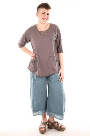 1175 Artisan Pocket Top- Dove -U