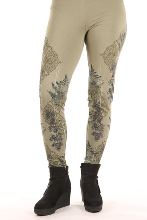 3280 Legging Heavy C/L Army Green-Printed