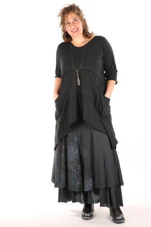 4113 Trilogy Skirt -Tonal Mineral Black- UNPrinted