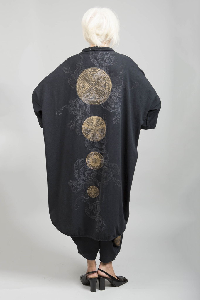 Kimono Jacket Printed-Blue Fish Clothing