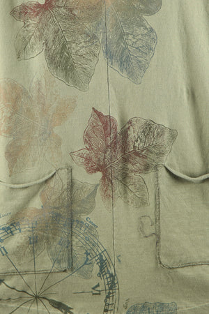 1175 Two Pocket Artist's Top-Herbaceous