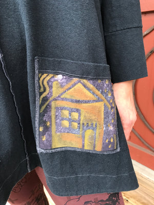 Patchwork Pocket Houses Tunic
