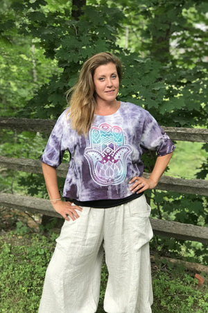 Purple Hamsa Marcy Top