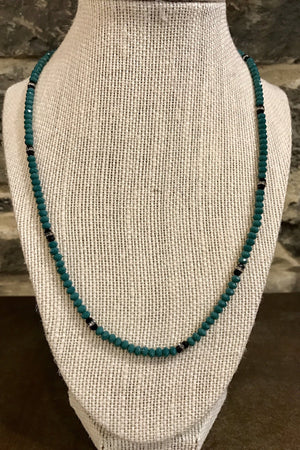 Teal Sparkle Necklace