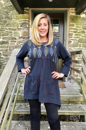 Patchwork Leaflet Printed Tunic