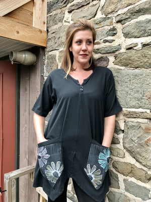Black Seed Pocket Tunic