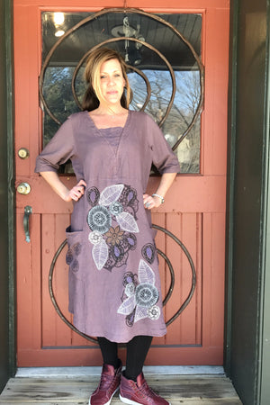 Made in Mauve Linen Dress