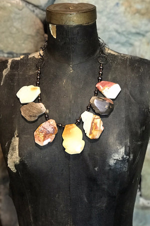 Jasper and Fresh Water Pearl Necklace