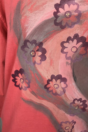 Frenchtown Coral Flora Studio Tunic