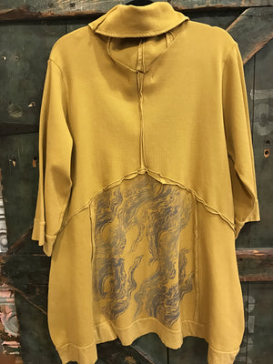 Mustard Thermal Pocket Tunic