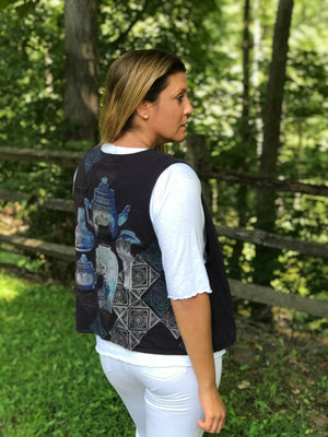 Doubled Vest - Midnight Purple - Mythical Tea Party