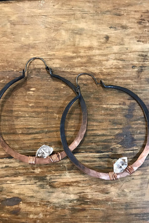 Ombré Jetliner Hoop Earrings