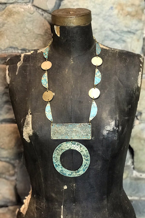 Hand Forged And Patinated Necklace
