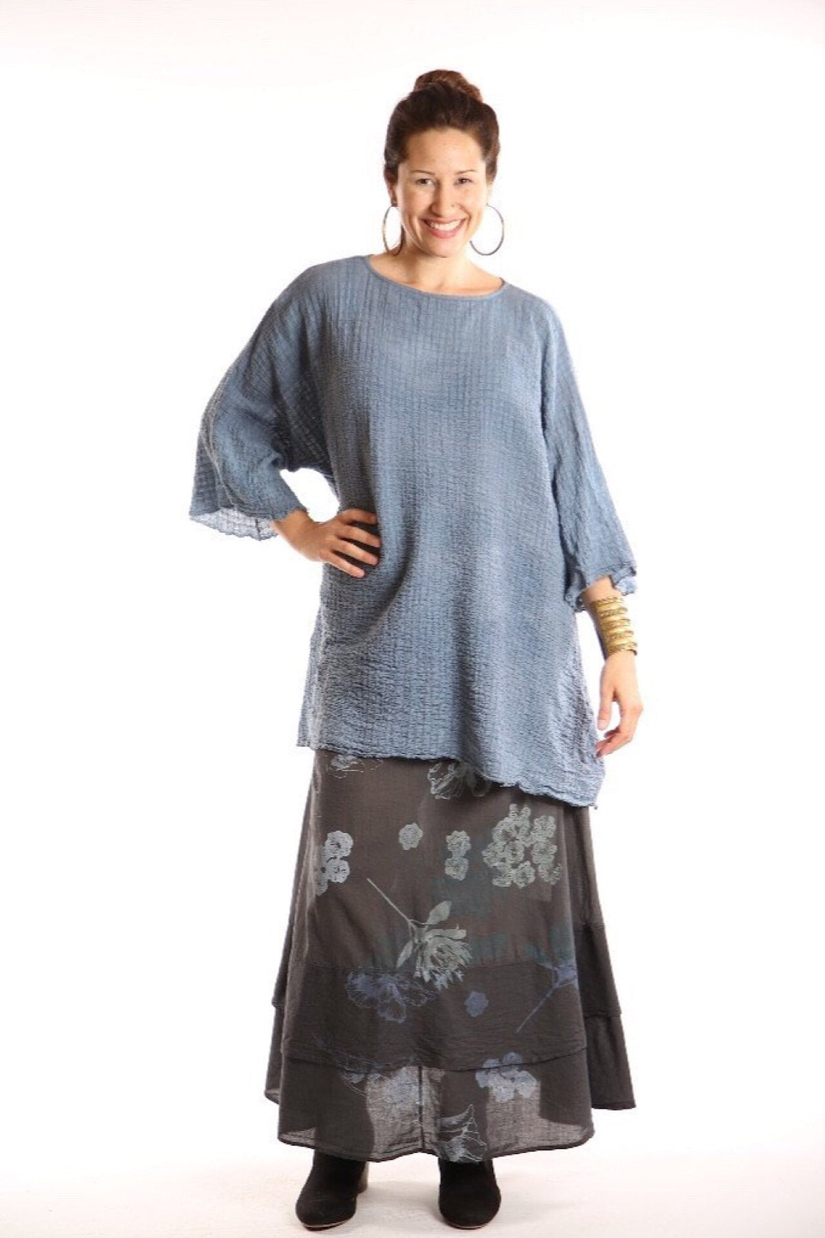 Hand Dyed Ana Tunic 2282- River
