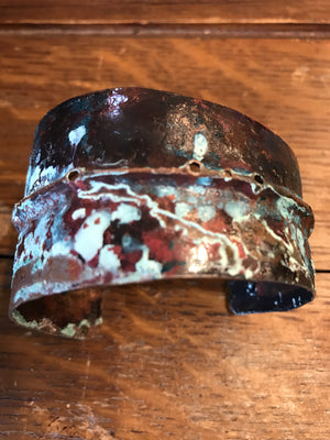 Handcrafted Copper Cuff 1