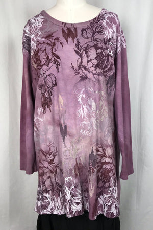 Frenchtown Long Sleeve Studio Tunic (peonie)
