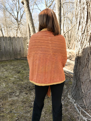 Cameo Silk Wrap Cardi ~ Apricot Dream