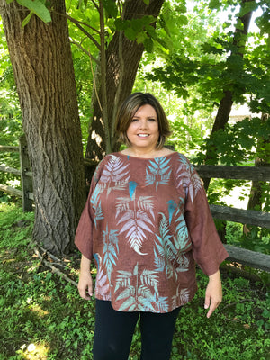Tropical Forest Square Linen Top