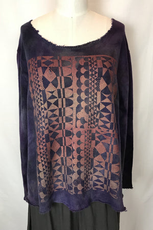Jomana Cotton Sweater (amethyst)