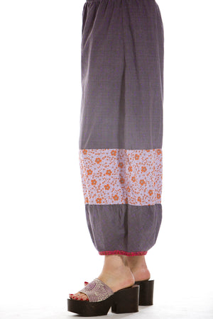 Voile Meadow Pant Unprinted- Blue Fish Clothing, Blue-Orange, 1