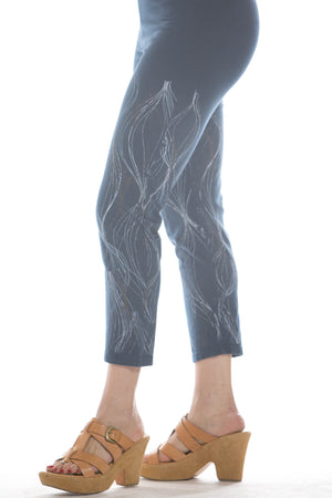 Cropped Legging Printed- Blue Fish Clothing