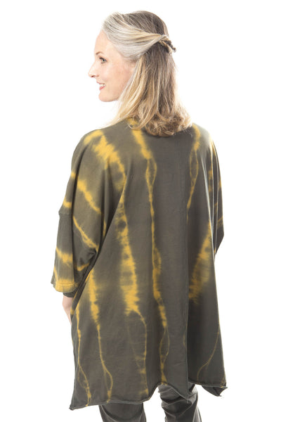 Hand Dyed Line Tunic Printed- Blue Fish Clothing