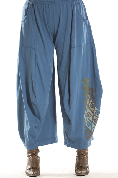 3-D Pant with Pockets Printed-Blue Fish Clothing