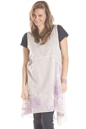 Florica Cotton Voile Shift Printed- Blue Fish Clothing
