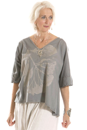 Marin Square Top Printed-Blue Fish Clothing