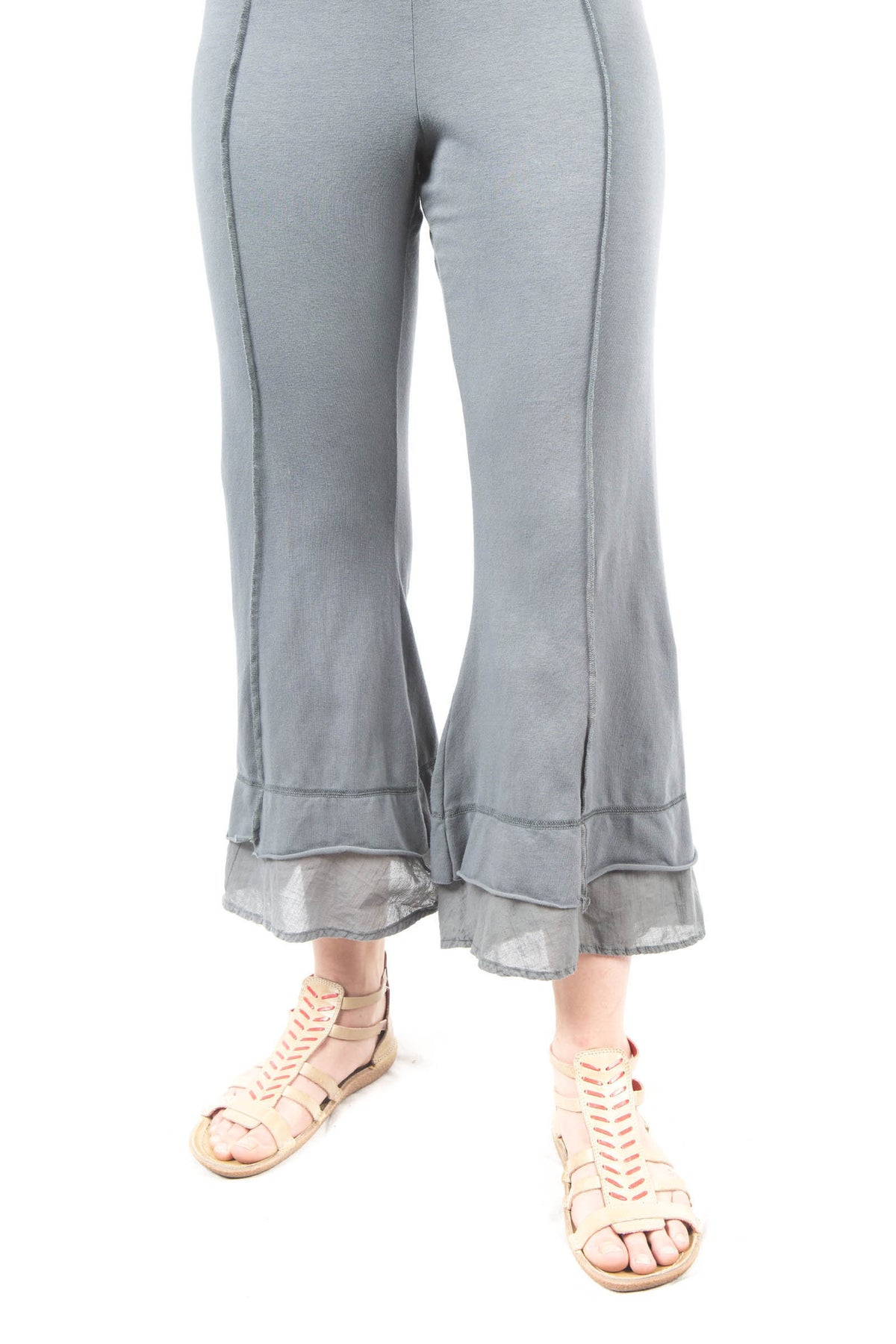 Summer Tiered Crop Pant UnPrinted