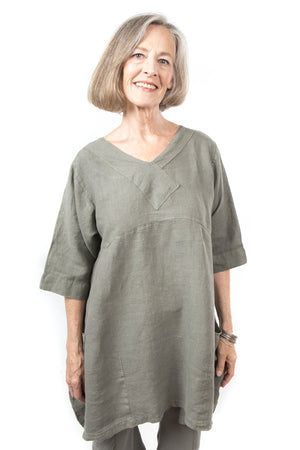 Crossover Linen Illite Tunic UnPrinted