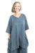 Crossover Linen Hypnea Tunic UnPrinted