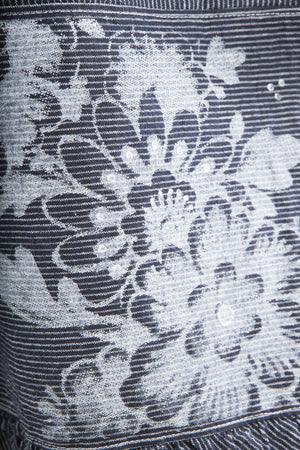 Hand Printed Delft Floral