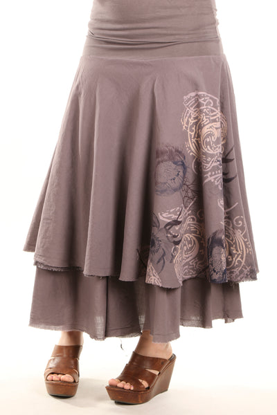 4113 Lace Tiered Skirt Dove Hand-P
