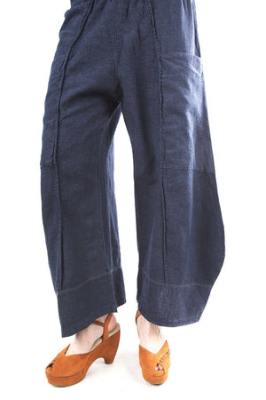 Hemp Denim Pinch Seam Pant Indigo-3264B