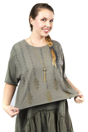 1239 The Marcy Top Illite Printed
