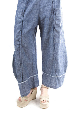 Hemp Denim Pinch Seam Pant Light Denim-3264